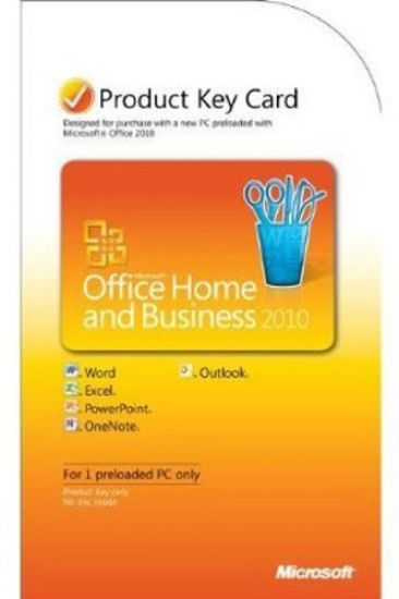 microsoft office 2010 home and business product key card vollversion deutsch softwarepalast. Black Bedroom Furniture Sets. Home Design Ideas