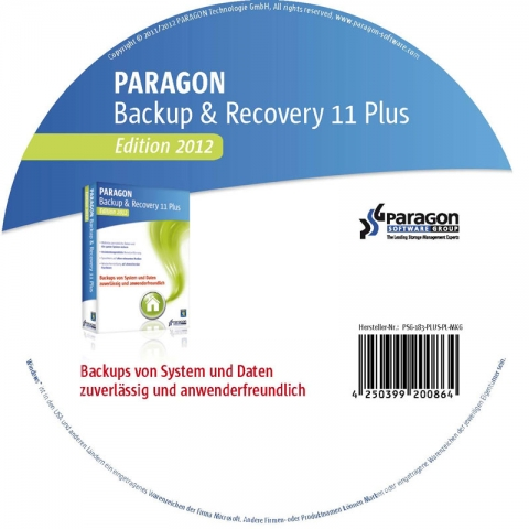 WatFile.com Download Free Paragon Backup & Recovery 11 Home PLUS, Edition 2012, CD