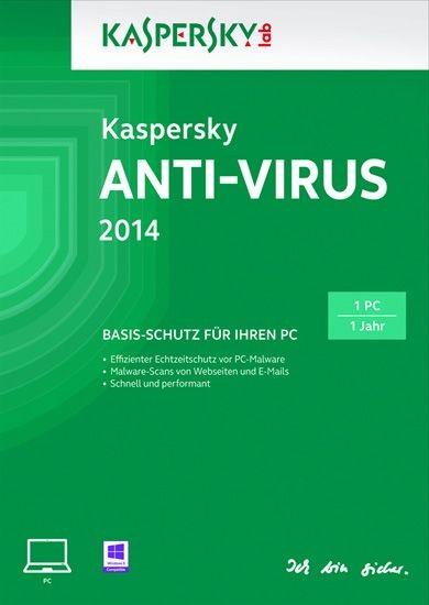 Kaspersky Antivirus 2014, 1 User, 1 Jahr, KEY
