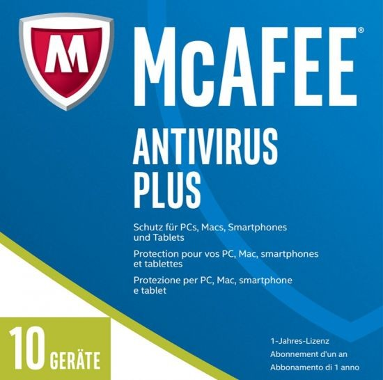 McAfee 2017 AntiVirus Plus - 10 Geräte, 1 Jahr, ESD, Lizenz, Download