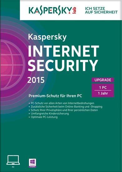 Kaspersky Internet Security, Upgrade, 1 User, 1 Jahr, gültig für 2015/2016, KEY