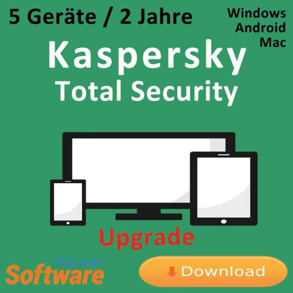 Kaspersky Total Security 2019 *5-Geräte / 2-Jahre* Update, Download