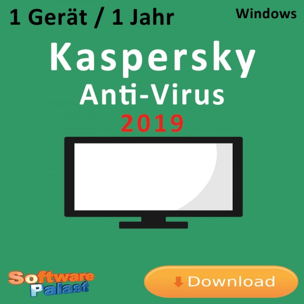 Kaspersky Anti-Virus 2019 *1-Gerät / 1-Jahr*, Download