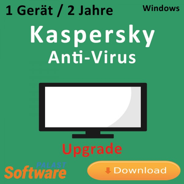 Kaspersky Anti-Virus 2019 *1-Gerät / 2-Jahre* Update, Download