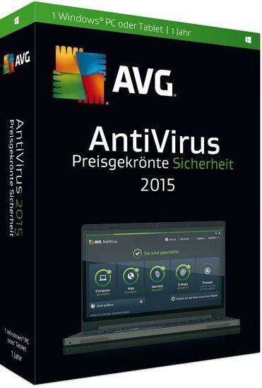 AVG AntiVirus 2015, 1 User, 1 Jahr, KEY