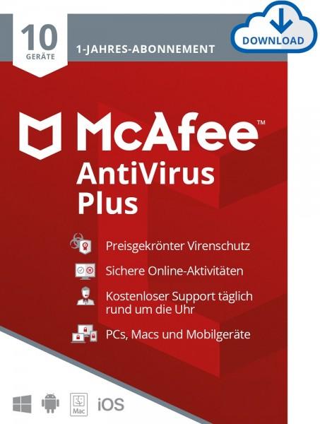 McAfee AntiVirus Plus 10 Geräte 1 Jahr ESD