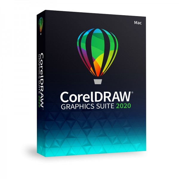 CorelDRAW Graphics Suite 2020 Vollversion Mac Deutsch DVD