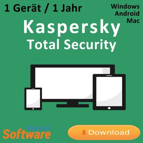 Kaspersky Total Security 2019 *1-Gerät / 1-Jahr*, Download