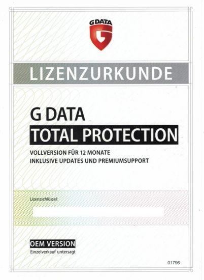 G Data Total Protection 1-PC 1-Jahr PKC (OEM)