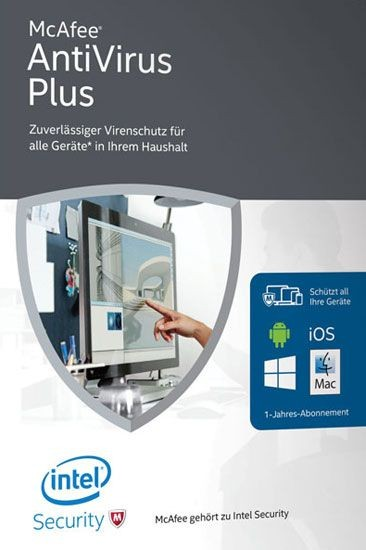 McAfee AntiVirus Plus 2016 - Unlimited Devices, 1 Jahr, ESD, Lizenz, Download