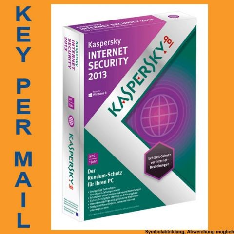 Kaspersky Internet Security, 5 Geräte, 1 Jahr, KEY