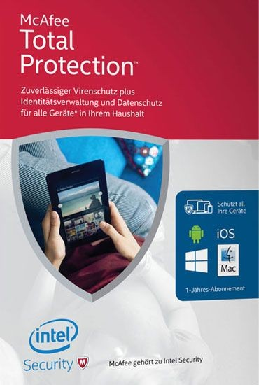 McAfee Total Protection 2016 - Unlimited Devices, 1 Jahr, ESD, Lizenz, Download