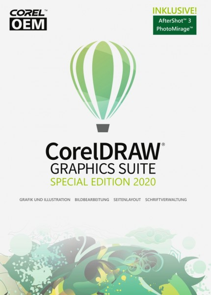 CorelDRAW Graphics Suite 2020 Special Edition OEM, ESD Lizenz Download KEY