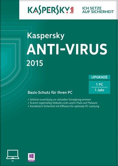 Kaspersky Antivirus 2015, Upgrade, 1 User, 1 Jahr, KEY
