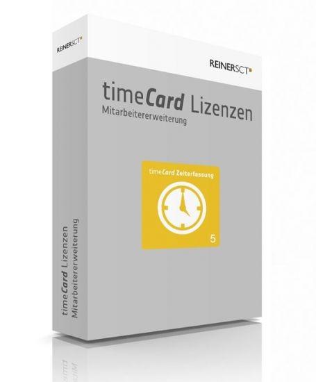 Reiner SCT timeCard 6 Zeiterfassung ERWEITERUNG für 5 Mitarbeiter, Lizenz