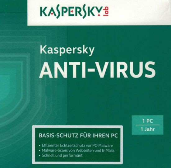 Kaspersky Antivirus, Upgrade, 1 PC, 1 Jahr, 2017, ESD, Lizenz, Download