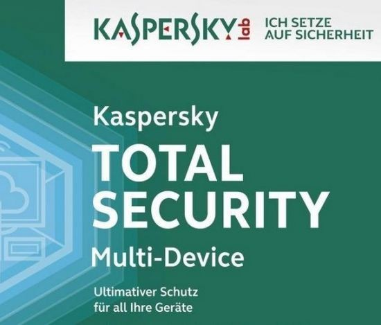 Kaspersky Total Security, Upgrade, 3 Geräte PC/Mac/Android, 1 Jahr, 2017, ESD