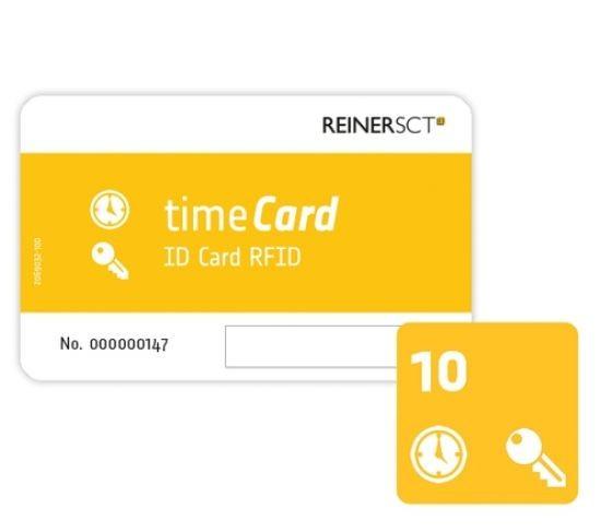 REINER SCT timeCard RFID Chipkarten 10 Stk. (DES)