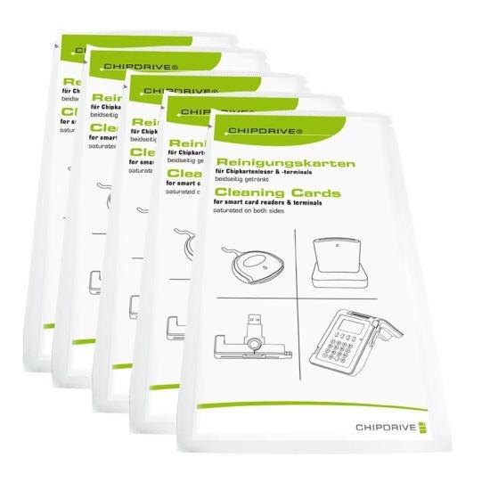 CHS SCR Cleaning-Card 05 Reinigungskarten für Chipkartenleser (5er-Pack)