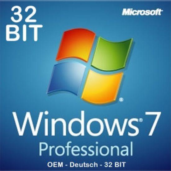 Windows 7 Professional 32bit, SP1, OEM, Download, Key