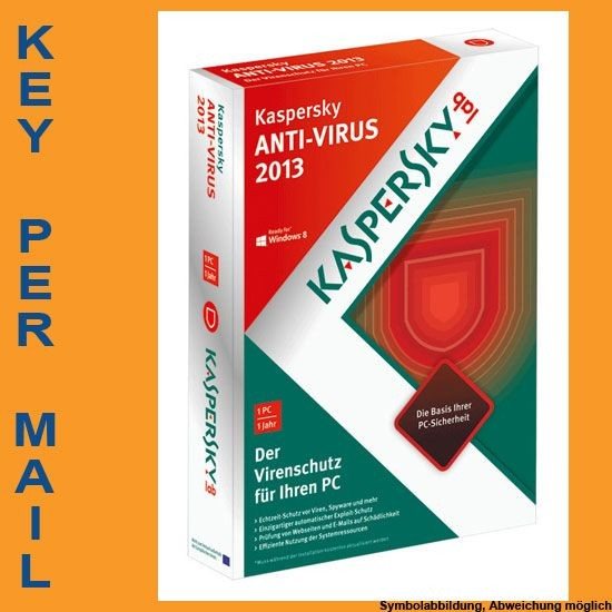 Kaspersky AntiVirus 2011/2012, 3 User, 1 Jahr, KEY