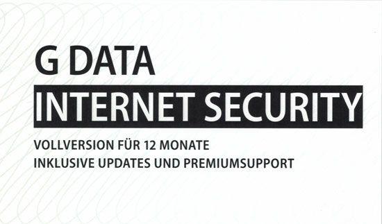 G DATA Internet Security, 1 PC, 1 Jahr, KEY