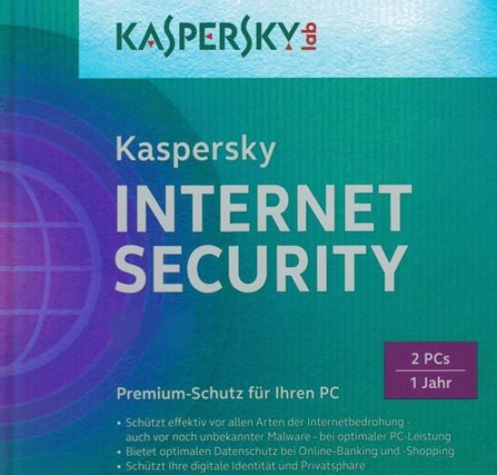 Kaspersky Internet Security, 2 User, ESD, Lizenz, Download, gültig für 2016