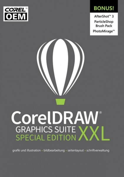 CorelDRAW Graphics Suite XXL Special Edition OEM, ESD Lizenz Download KEY