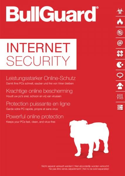 BullGuard Internet Security 3-PC, 1 Jahr, Keycard