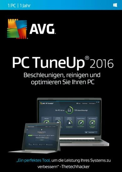 AVG TuneUp Utilities 1 User, 1 Jahr, KEY
