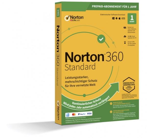 NORTON 360 STANDARD (Internet Security) 1-Gerät / 1-Jahr ABO inkl. 10GB BOX