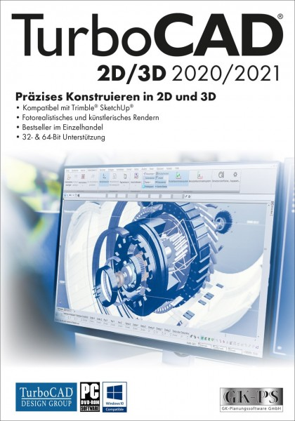 TurboCAD 2D/3D 2020/2021, ESD Lizenz Download KEY