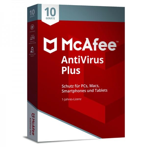 McAfee AntiVirus (2018) 10-Geräte 1 Jahr (Code Only) MIN-BOX