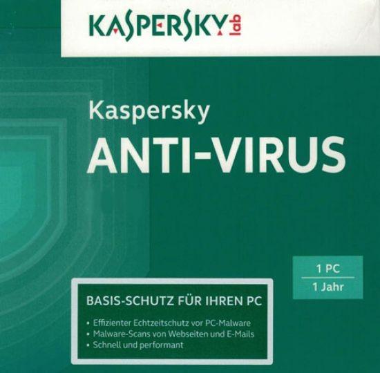 Kaspersky Antivirus, 1 PC, 1 Jahr, gültig für 2017, ESD, Lizenz, Download