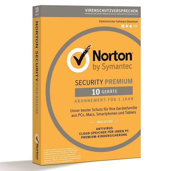 Norton Security Premium 3.0 *10-Geräte / 1-Jahr* BOX (Card Case)