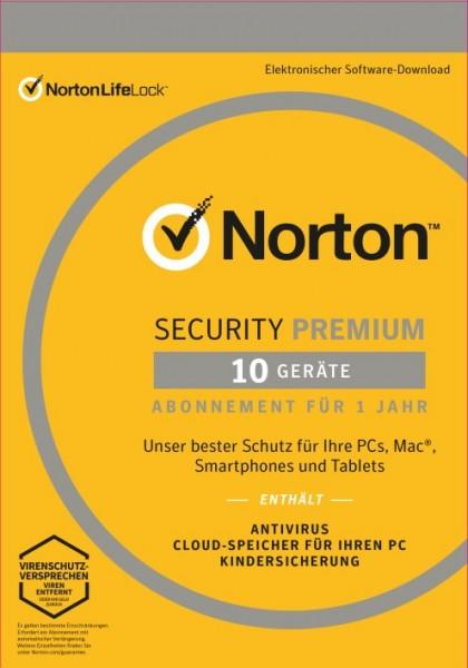 Norton Security Premium 3.0 *10-Geräte / 1-Jahr* ESD Lizenz Download