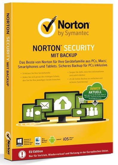 NORTON (Internet) SECURITY inkl. BACKUP 25GB, 10-Geräte, Card-Case