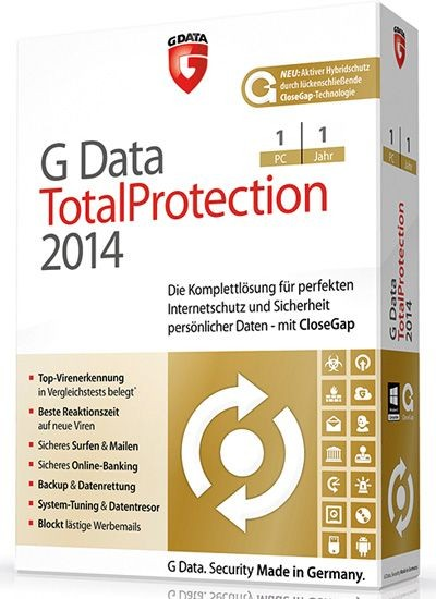 G DATA TotalCare, 1 PC, 1 Jahr, KEY