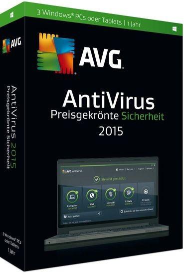AVG AntiVirus 2015, 3 User, 1 Jahr, KEY