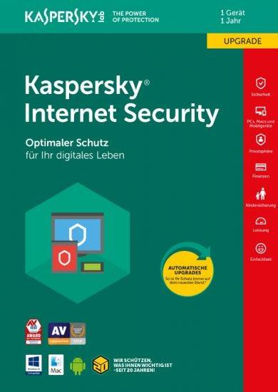 Kaspersky Internet Security, Upgrade, 1 Gerät, 1 Jahr, Download