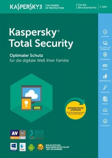 Kaspersky Total Security, 3 Geräte, 1 Jahr