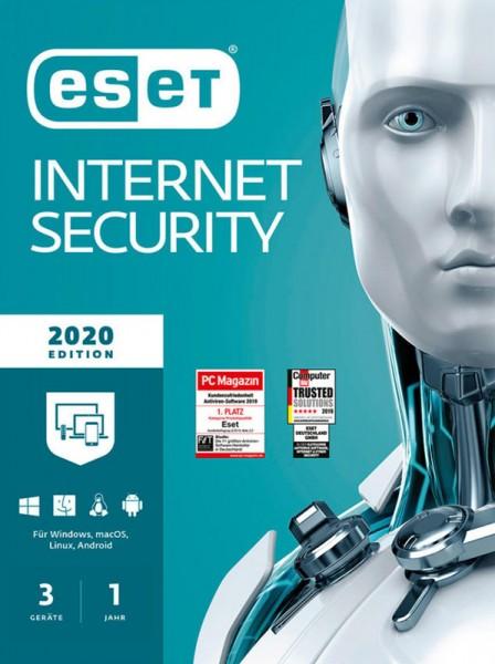 ESET Internet Security 2020 3-Geräte 1-Jahr, ESD, Lizenz, Download, #KEY