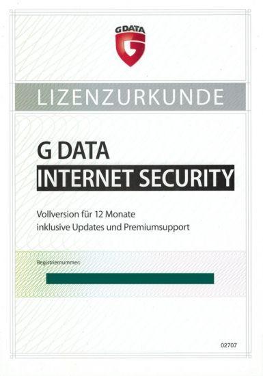 G DATA Internet Security, 1 User, 1 Jahr, PKC