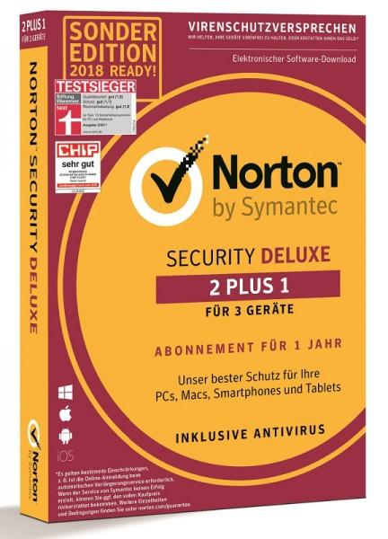Norton Security Deluxe *2+1= 3-Geräte / 1-Jahr* Box (Card Case)