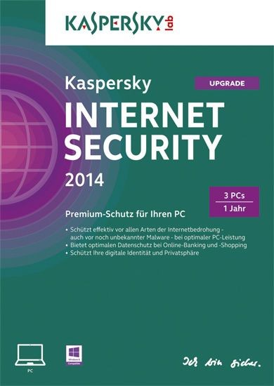Kaspersky Internet Security, Upgrade, 3 User, 1 Jahr, KEY