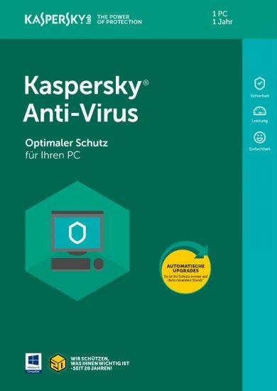 Kaspersky Anti-Virus, 1 PC, 1 Jahr, Download