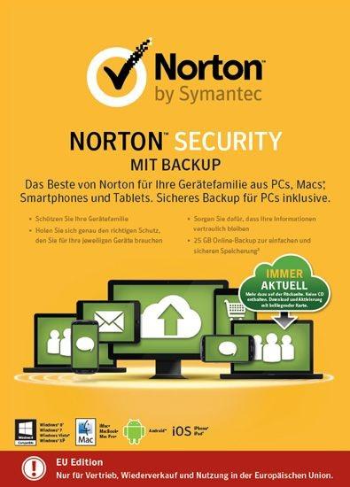 NORTON SECURITY inkl. BACKUP 25GB 10 Geräte, 1 Jahr. KEY