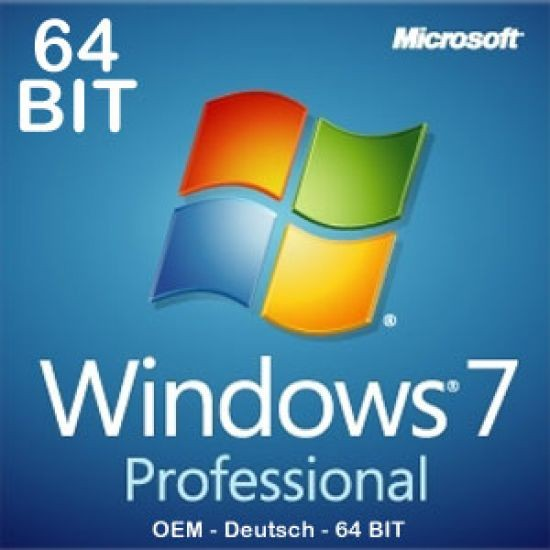 Windows 7 Professional 64bit, SP1, OEM, Download, Key