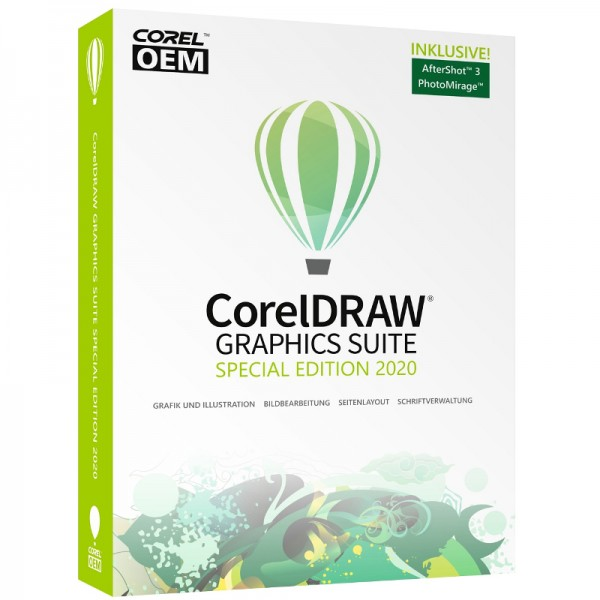 CorelDRAW Graphics Suite Special Edition 2020 (V.22) OEM +AfterShot3+PhotoMirage, Box