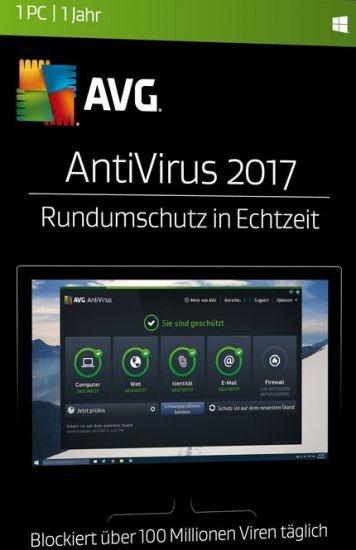 AVG AntiVirus, 1 Gerät, 1 Jahr, 2017, ESD, Lizenz, Download